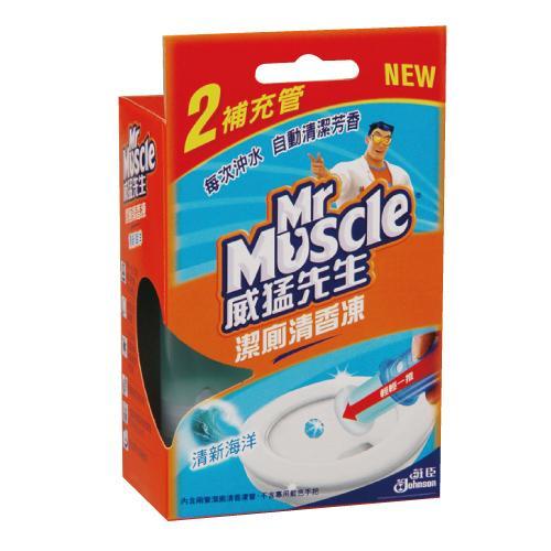 威猛先生潔廁清香凍補充管-清新海洋38gX2入/   盒【愛買】