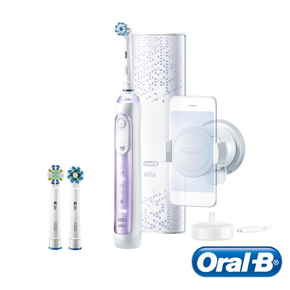 德國百靈Oral-B-Genius10000 3D智慧追蹤電動牙刷(紫鳶尾) 送超細毛護齦刷頭EB60-4