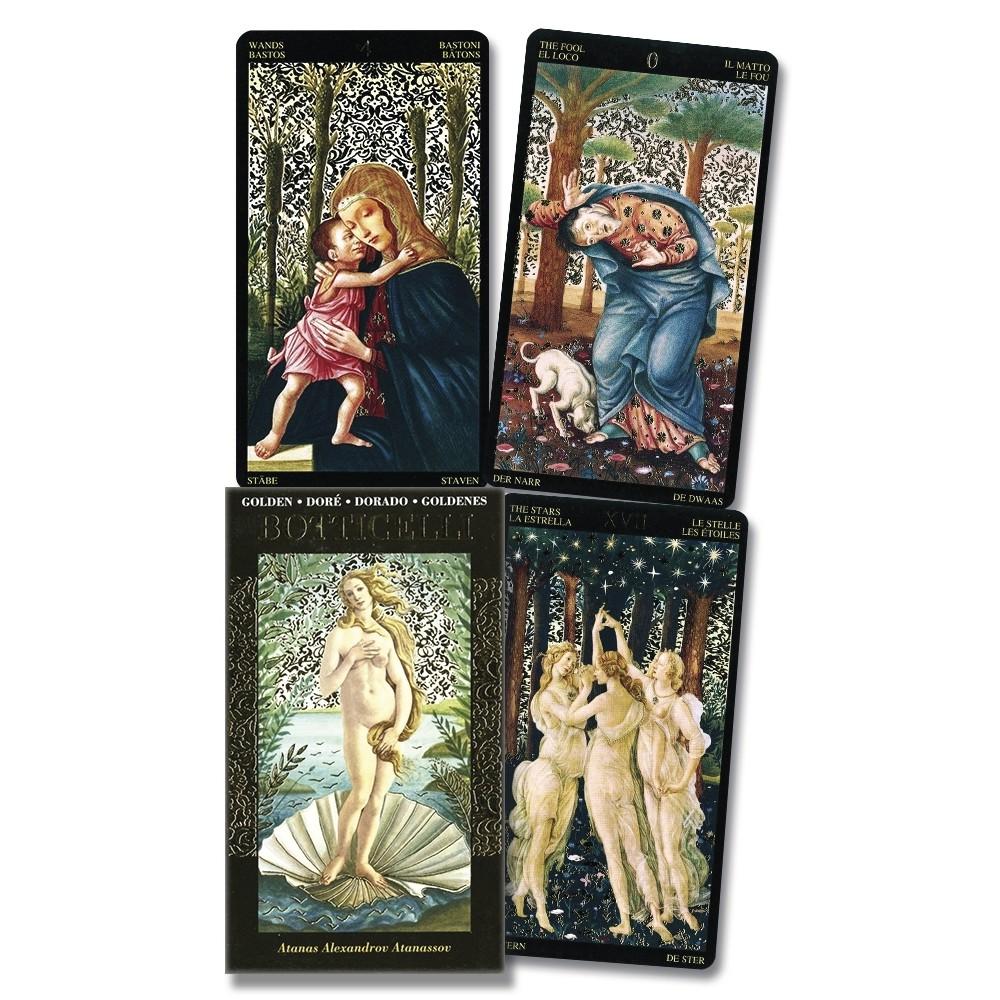 波提切利塔羅 Botticelli Tarot|燙金牌面華麗感的中古世紀藝術風格經典【左西購物網】