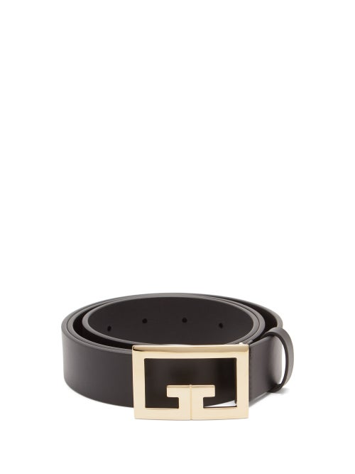 Givenchy - 2g-buckle Leather Belt - Mens - Black