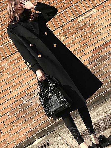 年新款毛呢大衣女溫柔氣質中長款大翻領外套呢子冬季妮子加厚 雙十二全館免運