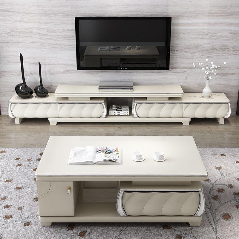 電視柜茶幾組合套裝客廳北歐大理石小戶型現代簡約家具電視機柜pd