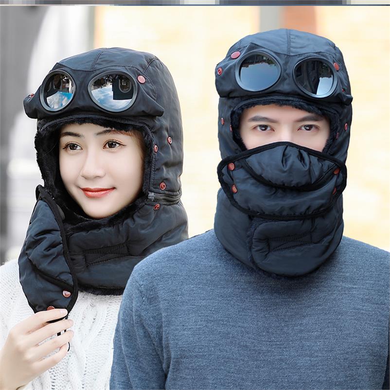 加絨帽子情侶外出防寒帽子套裝冬天自駕游防寒保暖帽子滑雪帽子1入