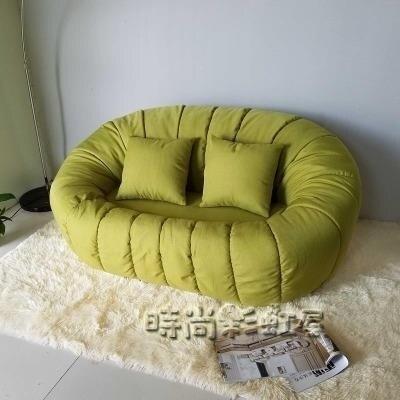 服裝店女生小型房間公寓臥室網紅款小戶型懶人迷你布藝雙人小沙發MBS