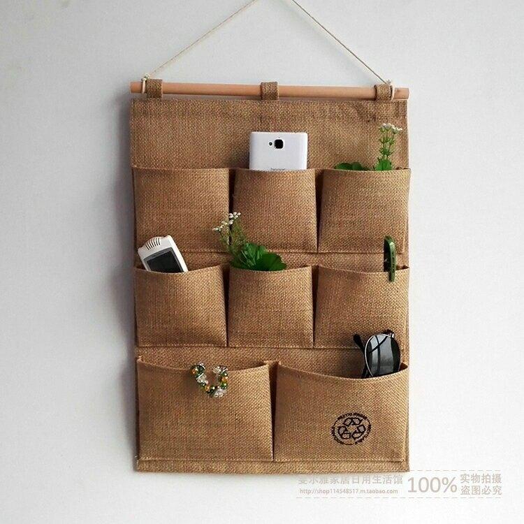 收納袋 布藝掛式壁掛墻面雜物袋簡約多層儲物袋宿舍門後掛袋jy