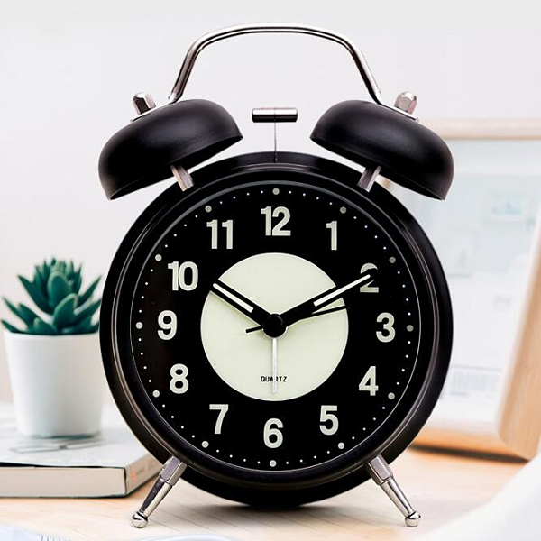 鬧鐘 可充電夜光小鬧鐘學生用床頭兒童北歐臥室靜音個性創意表超大聲音【快速出貨八折特惠】