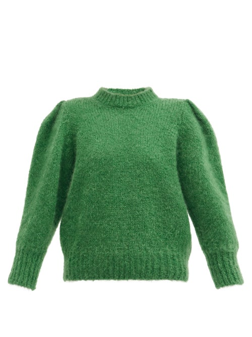 Isabel Marant - Emma Puff-sleeve Sweater - Womens - Green
