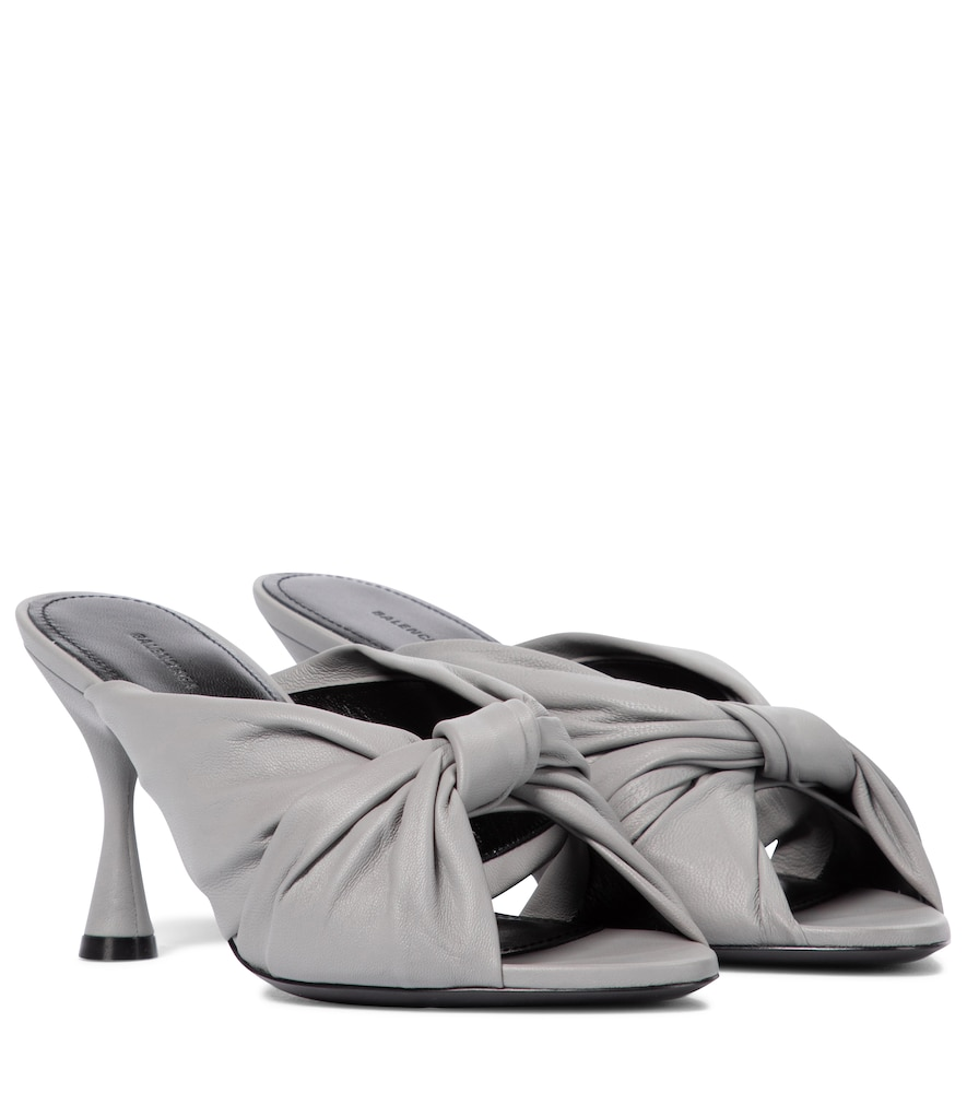 Drapy leather sandals