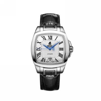 ERNEST BOREL 瑞士依波路錶 格蘭系列 白面皮帶 37mm