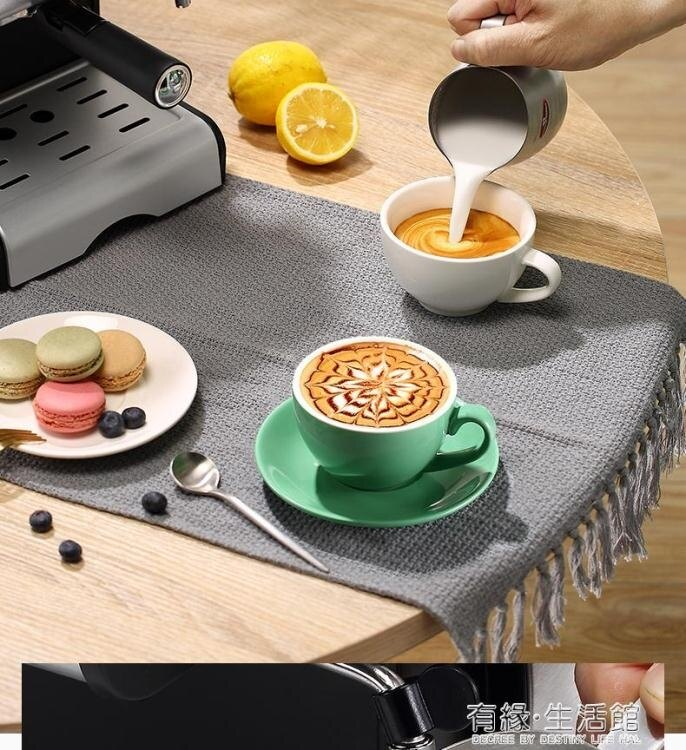 Donlim東菱家用意式半自動咖啡機小型手動迷你蒸汽式打奶泡煮濃縮  聖誕節狂歡購