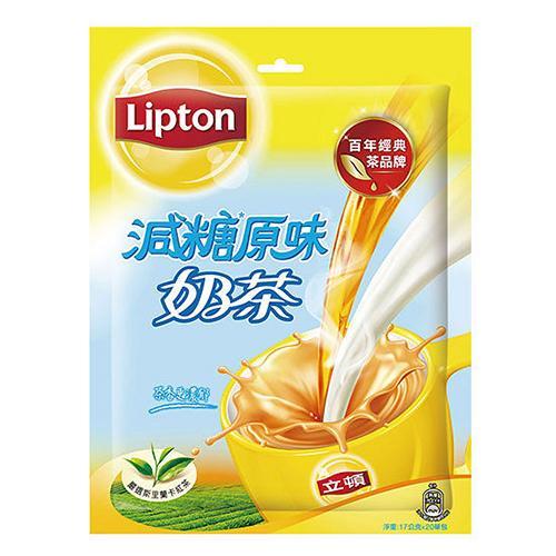 立頓原味減糖奶茶量販包17G x20【愛買】