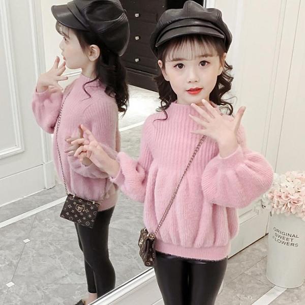 女童毛衣 女童秋冬毛衣2021韓版3兒童4洋氣5中大童6套頭7針織8打底衫10歲潮 艾維朵