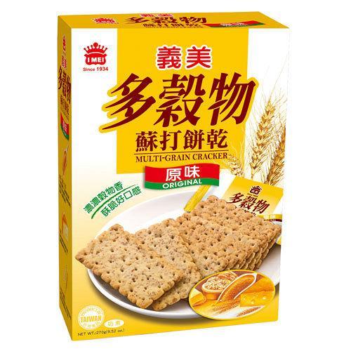 義美多穀物黃金胚芽蘇打餅270g【愛買】
