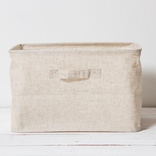森 棉麻深型收納盒S3058L-6-大(25x39x28cm)【愛買】
