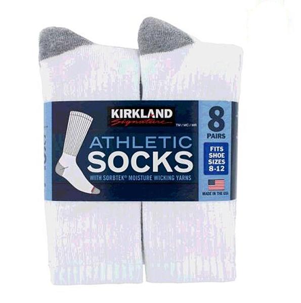 [COSCO代購] W7654654 Kirkland Signature 科克蘭 男運動襪 8入