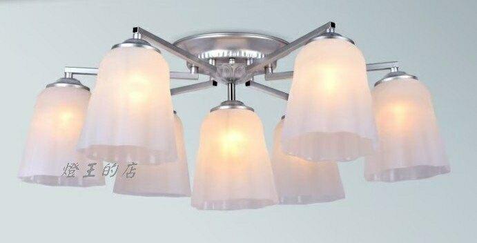 燈飾燈具【燈王的店】古典風系列 半吸燈6+1燈 客廳燈 房間燈 主燈 PP塑料燈罩 TY-L0149