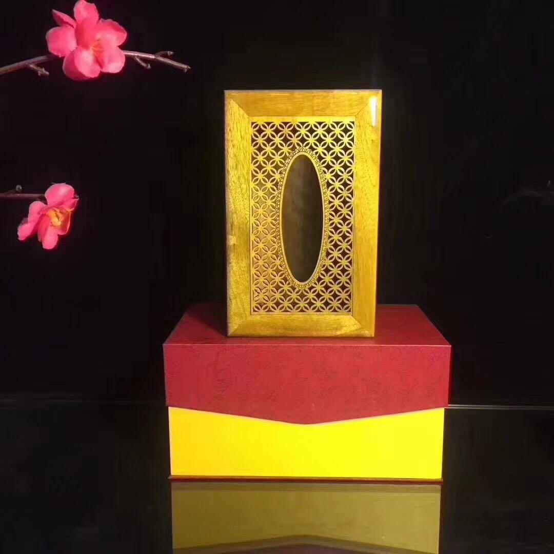 金絲楠紙巾盒四川小葉楨楠鏤空紙巾盒香味濃郁家庭收納用具禮盒裝1入