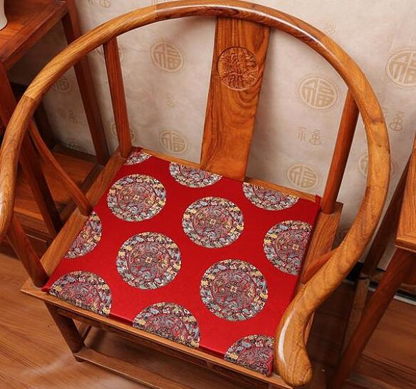 椅垫 中式紅木沙發坐墊可拆洗餐椅坐墊皇宮圈茶椅太師椅墊定做海綿坐墊TW【快速出貨八折鉅惠】