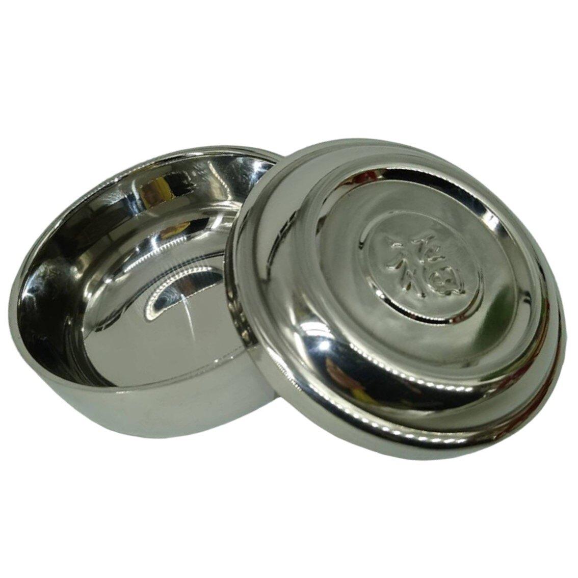 韓國傳統 雙層不鏽鋼底10CM白飯湯碗~碗+蓋(福字) 【樂活生活館】