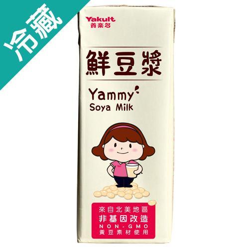 養樂多鮮豆漿200ML*6瓶 /組【愛買冷藏】