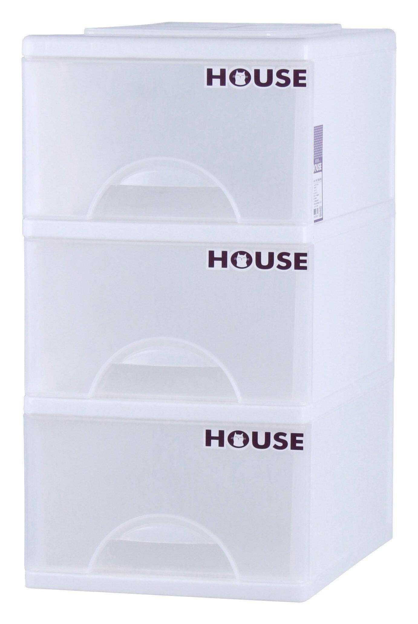 E&J【652046】Mr.box大純白三層收納櫃99L(附輪) 收納箱/整理箱/收納袋/衣櫃/衣櫥