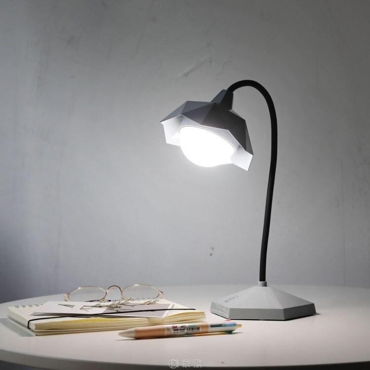 led護眼台燈少女心宿舍書桌學習USB可充電學生臥室閱讀床頭小夜燈 快速出貨 8號時光