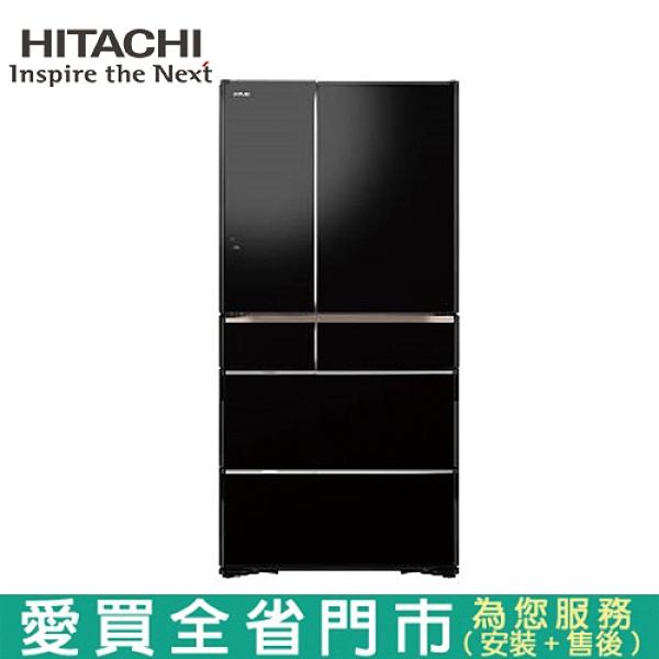 HITACHI日立741L六門ECO變頻冰箱RZXC740KJ-XK含配送+安裝【愛買】