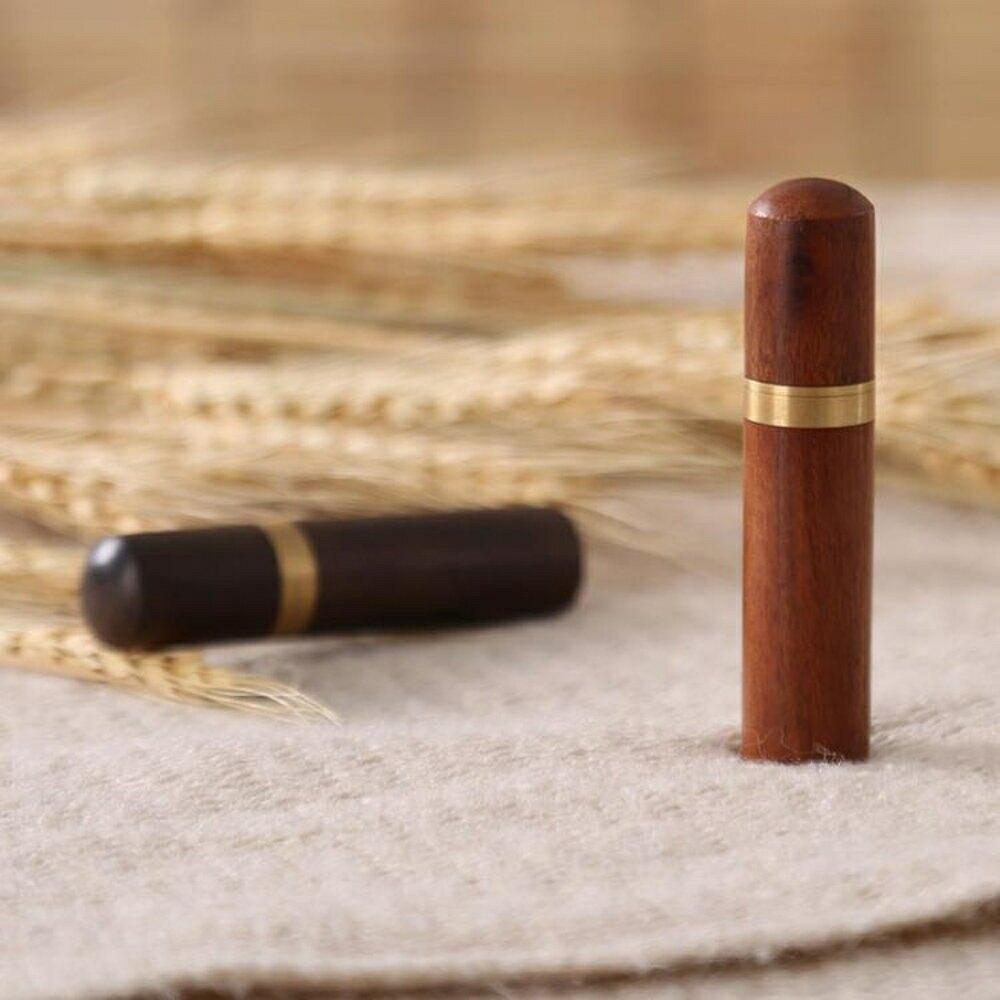 自動牙籤盒家用小牙簽盒木便攜式隨身實木紅木復古迷你旅行瓶攜帶客廳時尚筒-快速出貨
