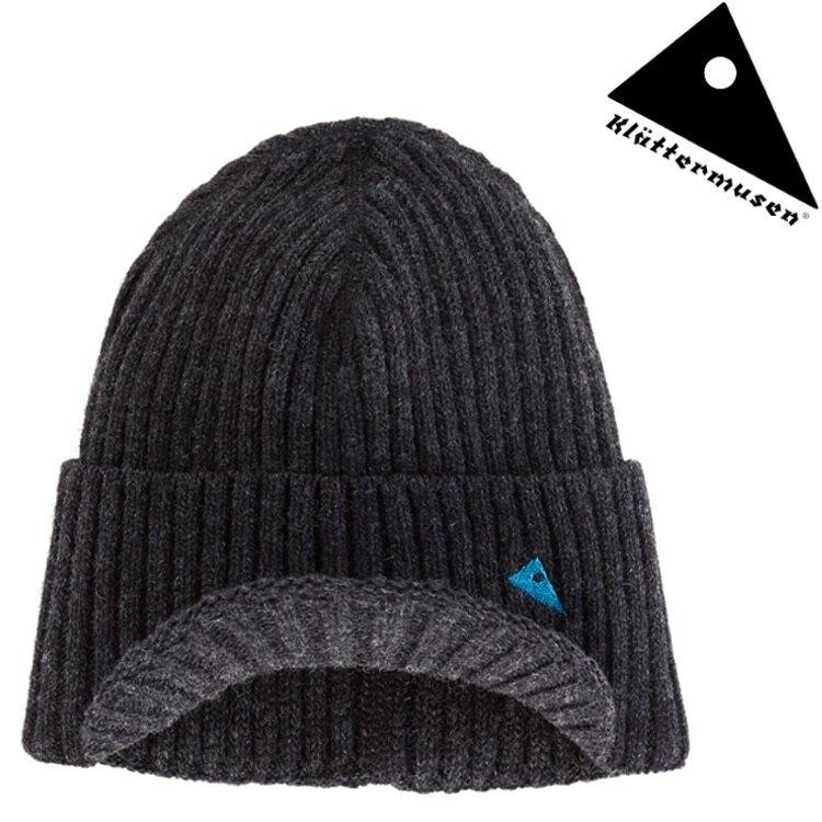 Klattermusen 攀山鼠 Barre 短帽沿羊毛直條保暖帽 KM51178U82 渡鴉黑 R