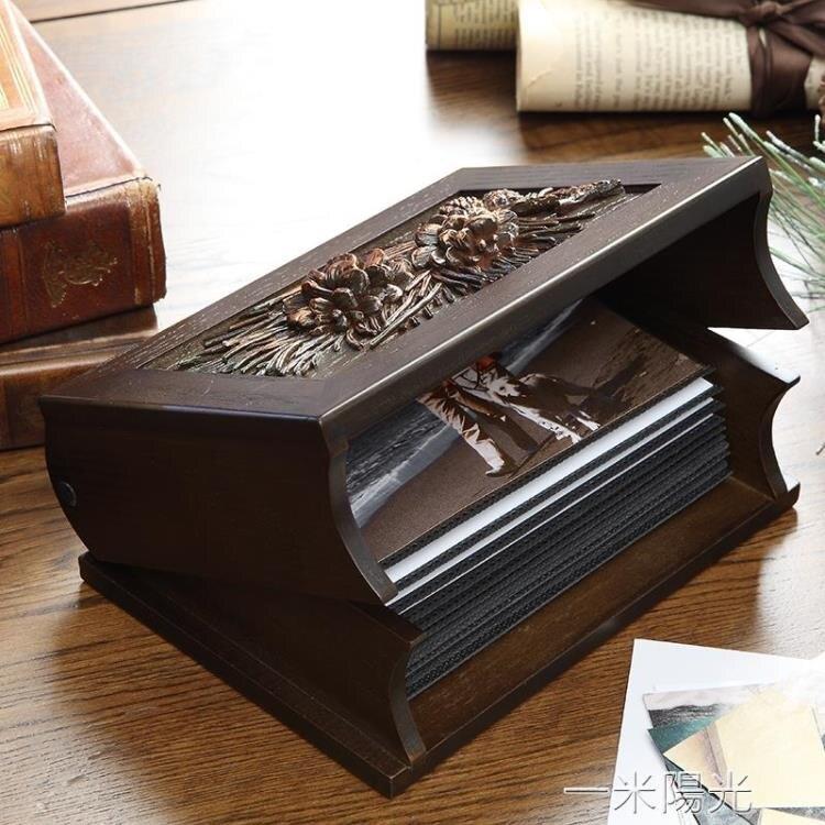 那瀾多好 創意木質商務禮品家庭插頁紀念冊影集相薄6寸相片相冊yh