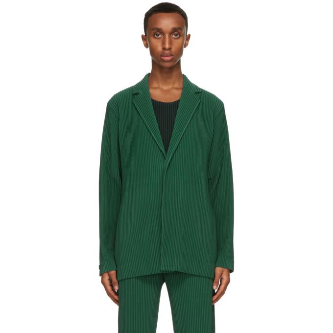 Homme Plisse Issey Miyake 绿色精裁西装外套