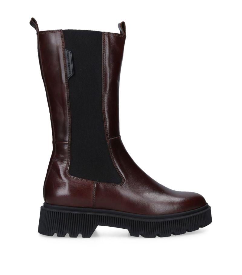 Kurt Geiger London Leather Stint Mid-Calf Boots