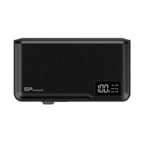 Silicon-Power 10000mAh 雙埠快充行動電源S103-黑【愛買】