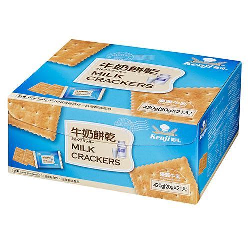 健司牛奶餅乾420g【愛買】