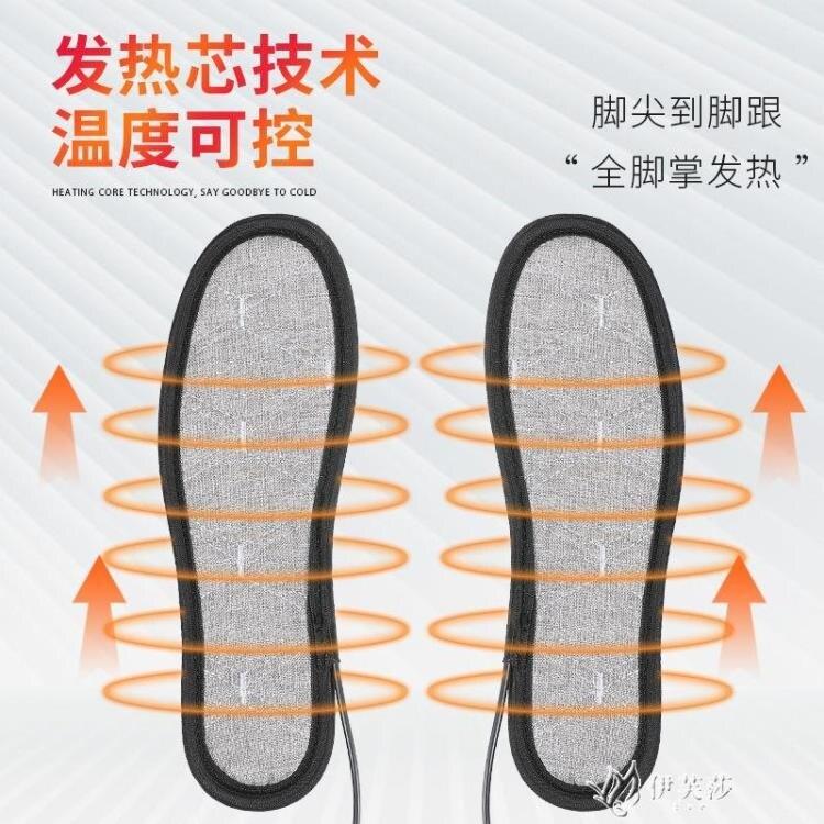 電加熱鞋墊USB充電5V調溫電暖墊男女暖腳加熱冬季保暖家 【快速出貨】