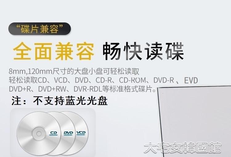 外置光驅盒USB3.0外置光驅筆記本台式Mac通用電腦行動DVD/CD外接光驅盒 快速出貨 8號時光