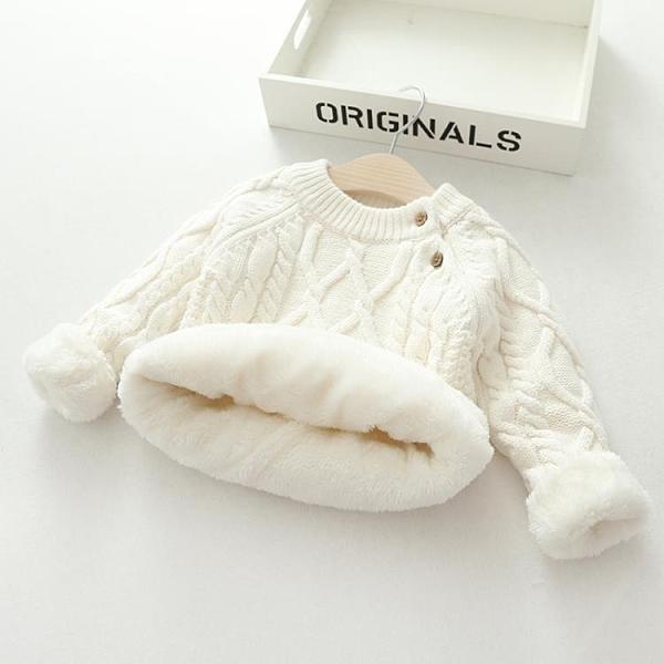 女童寶寶毛衣成品手編兒童男童加絨加厚款2020年秋冬季外穿洋套頭 艾瑞斯