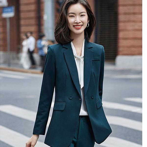隱約線條硬挺韓風上班秋冬西裝外套[20S186-PF]美之札
