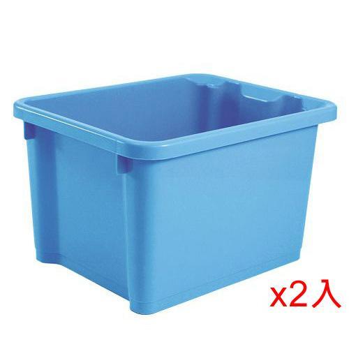 【2件超值組】樹德SHUTER萬用置物盒NHA-2328-  甜心藍(28*22.5*17cm)【愛買】