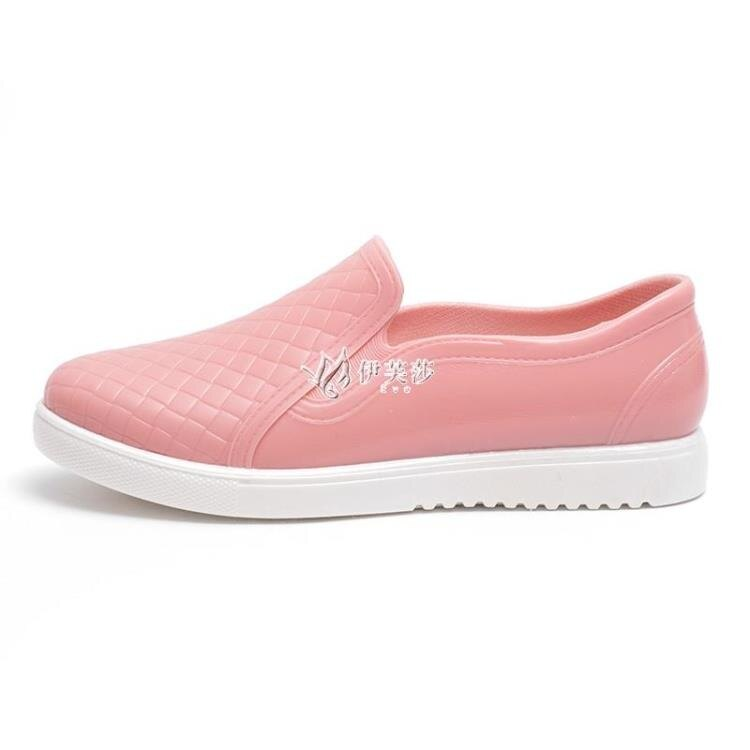 韓國雨鞋女可愛時尚款外穿防水防滑低幫水鞋雨靴廚房短筒膠鞋