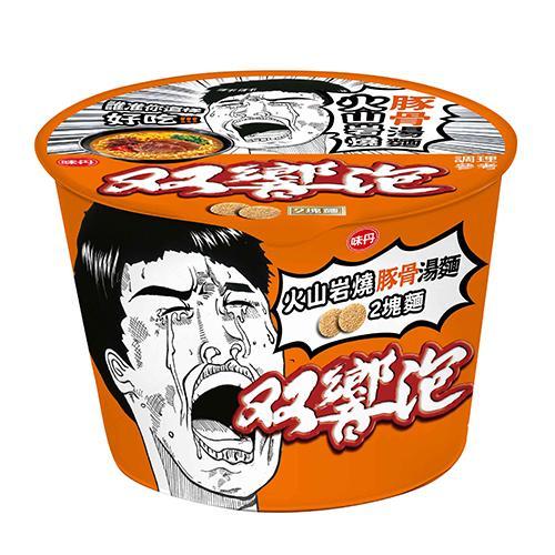 味丹雙響泡火山岩燒豚骨湯桶麵110g X3入【愛買】