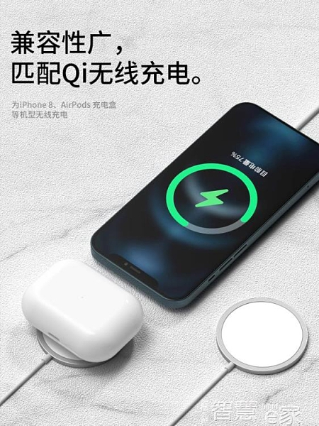 適用于蘋果MagSafe磁吸式無線充電器15W快充iPhone12手機配件11專用mini感應磁力promax專用2 智慧e家 新品