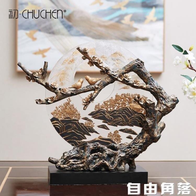 現代中式擺件新中式禪意辦公室家居工藝品擺飾客廳玄關酒櫃裝飾品