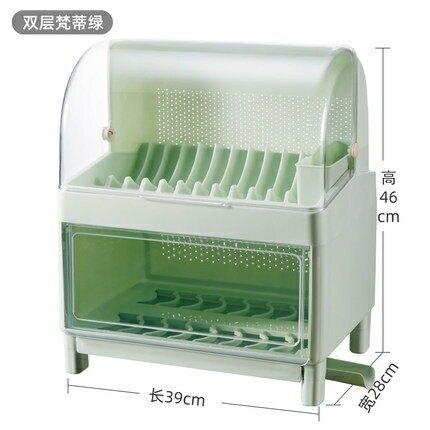 碗筷瀝水架 餐具架家用廚房碗架碗筷收納盒帶蓋裝碗櫃碟盤置物架jy