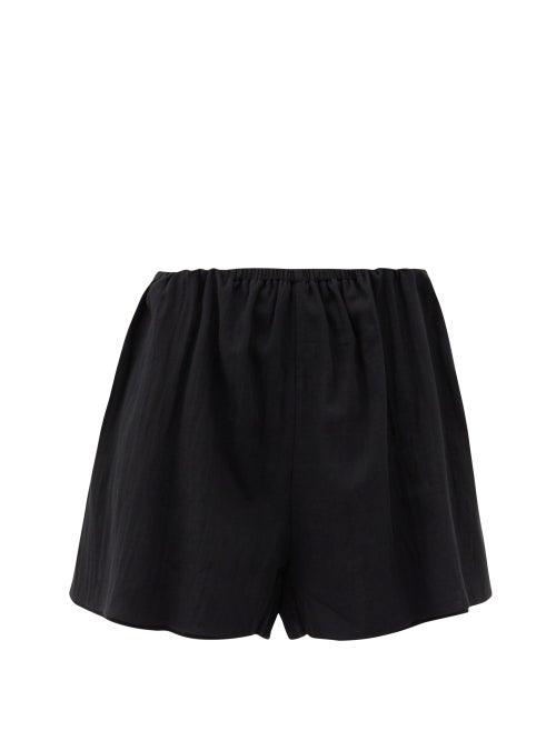 Loup Charmant - Vespa Organic-cotton Shorts - Womens - Black