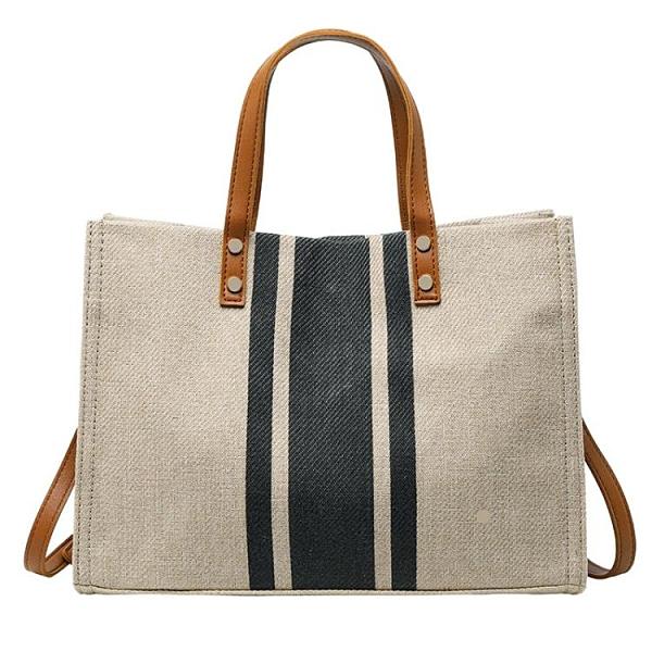 包包 韓版女士手提公文包職業通勤條紋簡約單肩大包包 優拓