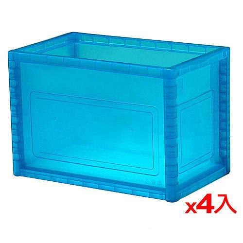 樹德KD-2619巧拼收納箱-藍透4入組【愛買】