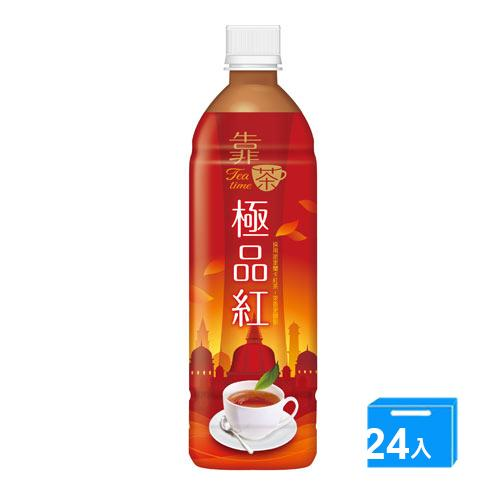 波蜜靠茶極品紅茶PET580ml*24【愛買】