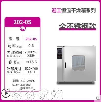 恆溫干燥箱 迎工電熱鼓風干燥箱烘箱工業恒溫烤箱實驗室真空烘干箱商用烘干機 薇薇MKS