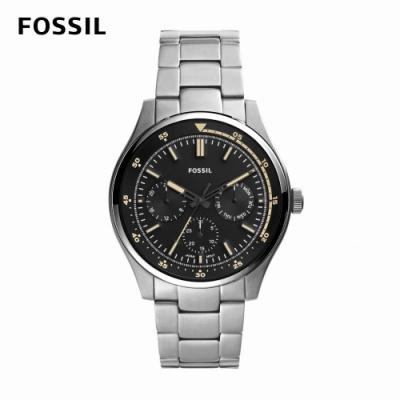 FOSSIL Belmar 個性時尚男錶 銀色不鏽鋼鍊帶 44MM FS5575